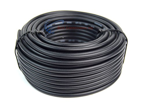 12 GA Gauge 50' Feet Black Audiopipe Car Audio Home Remote Primary Cable Wire