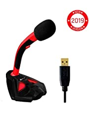 ⭐️KLIM™ Voice Desktop USB Microphone Stand for Computer Laptop PC - Gaming Mic PS4 - New 2019 Version