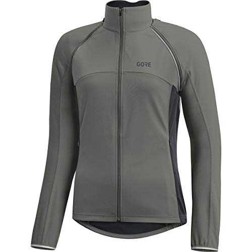 GORE Wear Women's Windproof Cycling Jacket, Removable Sleeves, GORE Wear C3 Women's GORE Wear WINDSTOPPER Phantom Zip-Off Jacket, Size: S, Color: Castor Gray/Terra Gray, 100191 by GORE WEAR (Image #1)