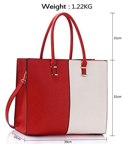 Handbag Tote New Strap For Designer With Large Faux Leather Bag Design Extra Women Red Shoulder White Ladies Female 1 6wqtE17B
