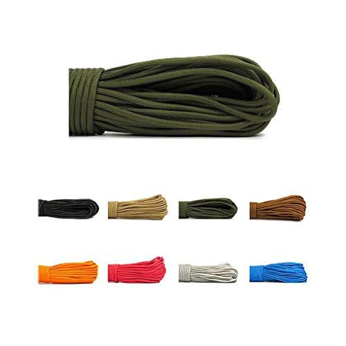 パプアニューギニア天才囲い屋外クライミングロープ、パラシュートコードタイプ仕様サバイバルコード屋外パラシュートロープ、商用グレード編組消防パラシュートコードロープ (色 : 青, サイズ : Diameter 4 mm/31M)