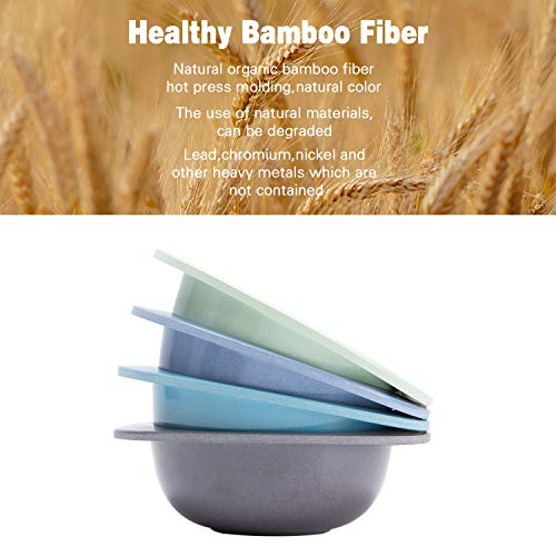 4pcs Bamboo Kids Bowls for Baby feeding,Non Toxic & Safe Toddler Snack Bowls, Eco-Friendly Tableware for Baby Toddler Kids Bamboo Toddler Dishes & Dinnerware Sets,01
