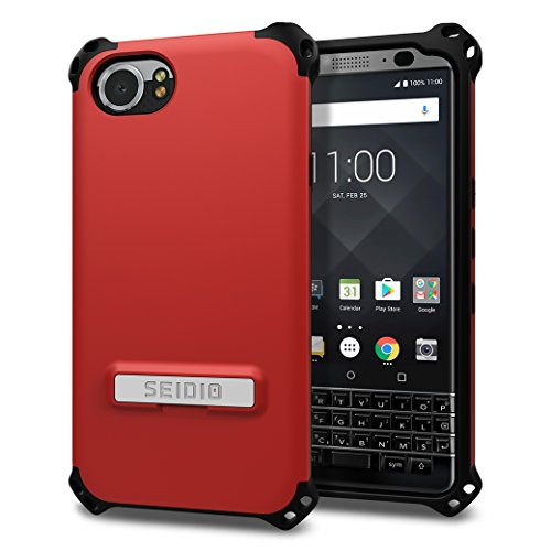Seidio Dilex Case with Kickstand for BlackBerry KEYOne (Dark Red/Black) ()