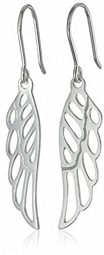 Sterling Silver Angel Wing Drop Earrings (Huge Openwork)