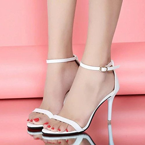Sandalen Riemchensandaletten High 8cm Einfacher Elegant Sexy Heel Schuhe Weiß Silber Pendeln Schwarz Weiß Damen Hffan Stil Stil Keine Sandaletten Grundlegender Gold Dünnes YqHx8