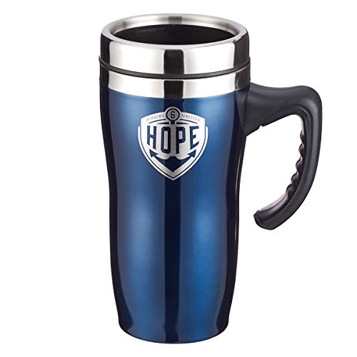(Hope Hebrews 6:19 Blue Travel Coffee Mug with Lid and Handle for Everyday Use (16 Oz Stainless Steel Double-Wall Vacuum Insulated Cup))
