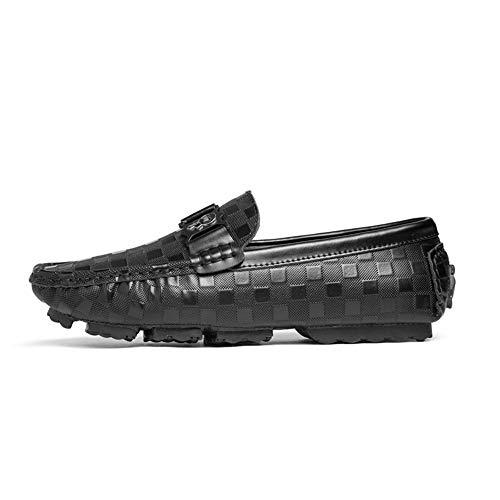 nero Scarpe casual mano guida da gommino Scarpe in da Mocassini fatti Hcwtx uomo da 0cm 24 piatte Scarpe barca Mocassino Dimensioni vera lavoro 0cm 27 Scarpe Scarpe pelle da a gommino wnwRqPCx1