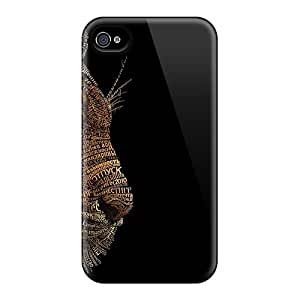 Hot Snap-on 3d Tiger Conew1 Hard Covers Cases/ Protective Cases For Iphone 4/4s