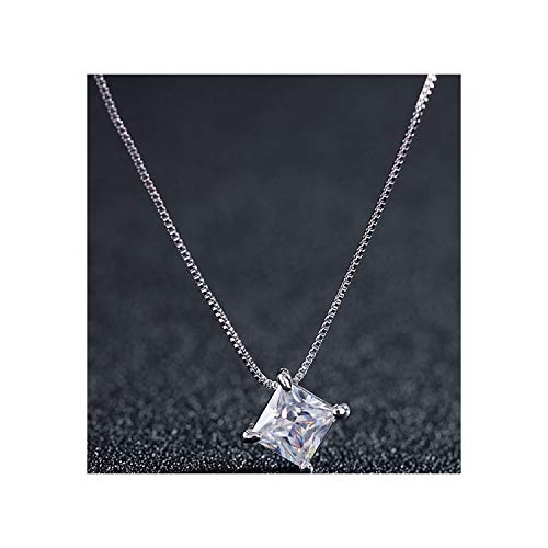 DLNCTD Novel Version of The Necklace Crystal Zircon Necklace Stereo Love Life Clavicle Chain Small Jewelry,Trueplatinum