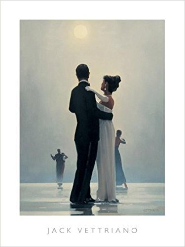 - Buyartforless Dance Me to The End of Love by Jack Vettriano 31.5x23.75 Romantic Waltzers Art Print Romantic Dancing Under Moonlight