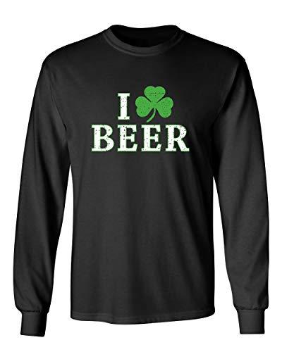 I Love Beer St. Patrick's Day Saint Paddy Irish Pats Funny T Shirt 5XL Black MLS ()