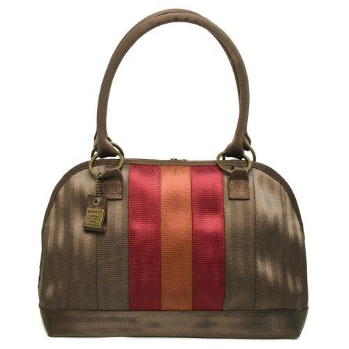 Harveys Seatbelt, Large Belle Satchel, Multi (Espresso, Maroon, Orange), Bags Central