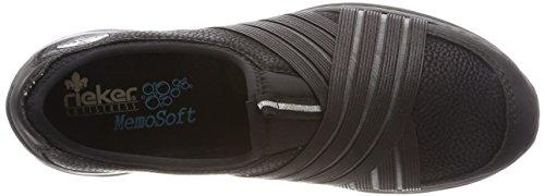 L32t0 Schwarz Schwarz Femme Schwarz Noir Rieker Basses Sneakers Schwarz 4wvSxqxdz