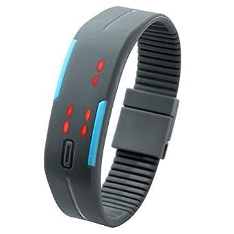 Jsdde Gel Rubber Bracelet Silicon Touch Screen Led Digital Unisex