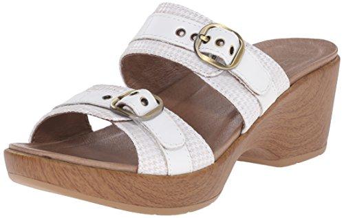 Blanco Jessie Multi la cuña Dansko mujer de Multi color de sandalias blanco vwABq