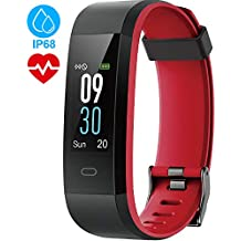 Tepoinn Fitness Tracker Activity Tracker Fitness Watch with Heart Rate Monitor Smart Watch Waterproof IP68 Color Screen Step Calorie Counter Call SMS SNS Push Pedometer Watch for Women Men Kids