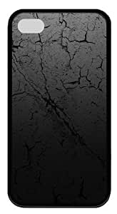 ACESR iPhone 4s Case & Cover - Cracked Earth Texture TPU Silicone Case Cover for iPhone 4 and iPhone 4s - Black