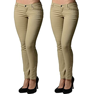 Discount 2 Pack Dinamit Juniors 5 Pocket Skinny Uniform Pant for cheap