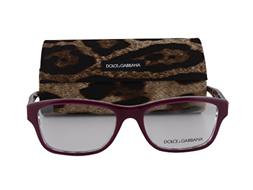 Dolce&Gabbana DG3208 Eyeglasses 54-17-140 Top Opal Bordeaux Leopard - And Gabbana Cat Dolce Eyeglasses Eye