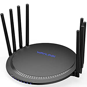 [Newest 2019] WAVLINK 3000Mbps Smart WiFi Router/High Speed WiFi Range Extender/5GHz Gigabit Dual Band Wireless Internet Router for Home-(533A8)