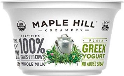 Maple Hill Creamery Greek Yogurt, Plain, 5.3 Ounce (Pack of 6)