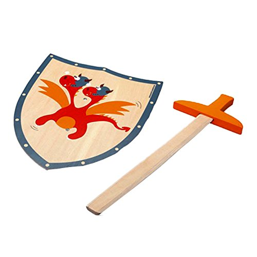 Scratch - 276182501 - Epée et Bouclier - Dragon en Rouge - Taille S 100.6182501