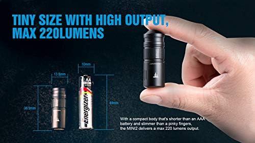 TrustFire MINI2 CA18-3X 220 Lumens 2-Mode Mini USB Charging LED Flashlight