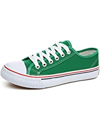 Low-Cut Canvas Shoes Unisex Fashion Sneaker Lace Ups Sports Shoes Casual Trainers for Men and Women