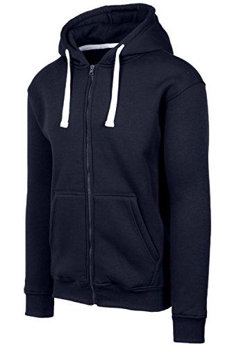 Navy Blue Hooded Jacket - 8