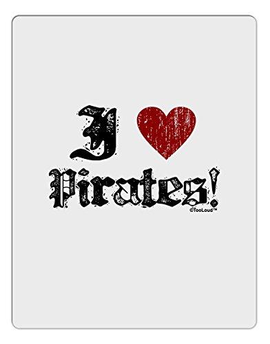[TooLoud I Heart Pirates Aluminum Dry Erase Board] (Somali Pirate Costume)
