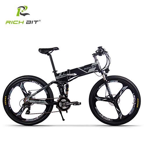 RICH BIT TP860pas 어시스트 부착 자전거 접이식 26인치 MTB산악자전거 풀 서스펜션 어시스트 자전거 36V*12.8AH