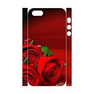 3D Fiery Rose For SamSung Galaxy S6 Phone Case Cover White