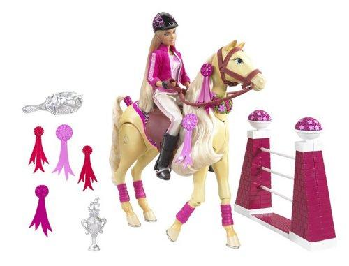 mattel poupe barbie cheval saut dobstacle 1 poupe amazonfr jeux et jouets - Barbie Cheval