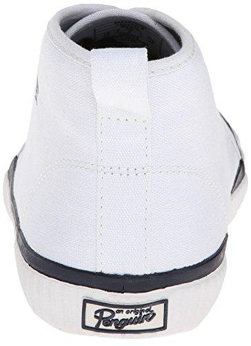 Original Penguin Mens Sneakerish Mode Sneaker Vit / Marinblå