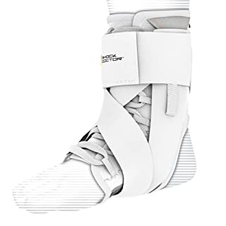 Shock Doctor Ultra Wrap Lace Ankle Support (White, X-Large,9.5–10)
