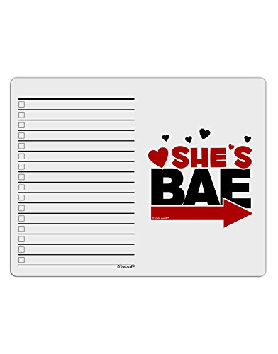 TooLoud She's BAE - Right Arrow To Do Shopping List Dry Erase Board