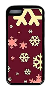Custom Soft Black TPU Protective Case Cover for iPhone 5C,Snowflakes Case Shell for iPhone 5C
