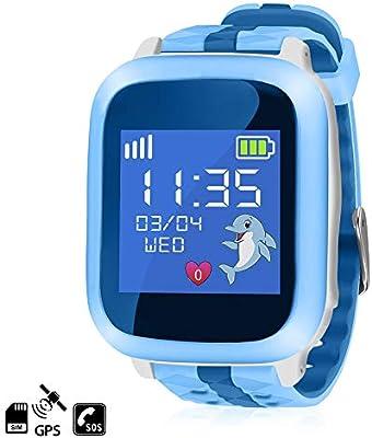 DAM. DMAB0061C30 Smartwatch GPS Especial Niños, Función De Rastreo, Llamadas Sos Y Recepción De Llamada. Manejo Sencillo. GPS + Lbs + Gprs. Azul