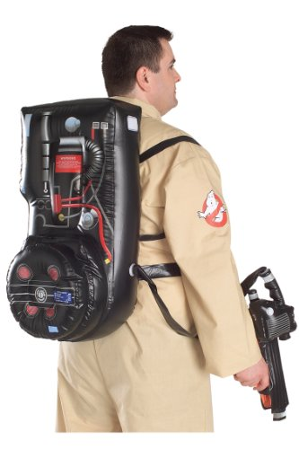 [Ghostbusters Costume With Inflatable Backpack, Plus Size, Adult Plus] (Ghostbuster Costume Backpack)