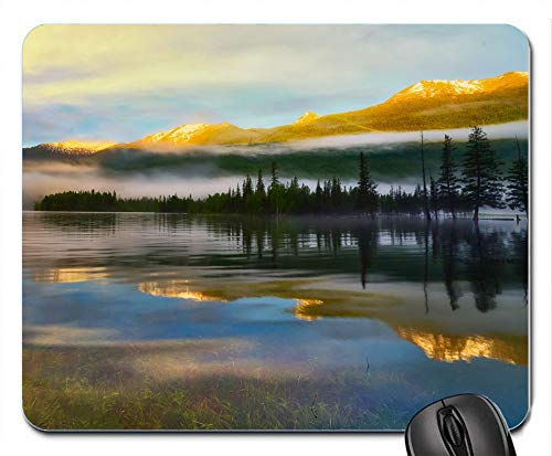 kanas Lake Landscape Scenery Reflections Personalized Custom Gaming Mousepad Rectangle Mouse Mat/Pad Office Accessory and Gift Design