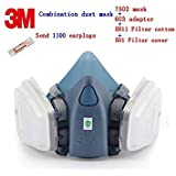3M 7502 mask + 603 Adapter + 5N11 Filter Cotton + 501 Filter Cover Respirator mask Against dust Respirator dust mask
