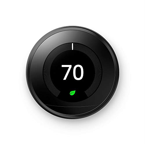 Google Nest Learning Thermostat - Programmable Smart Thermostat for Home - 3rd Generation Nest Thermostat - Works with Alexa - [Black]