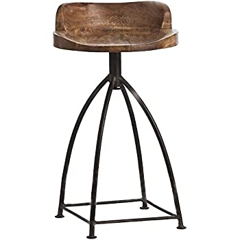 Amazon Com Arteriors Home Henson Wood And Iron Counter
