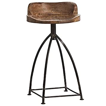 stool wooden kitchen home dining saddle and chic room stools swivel com furniture metal for bar jecoss seat