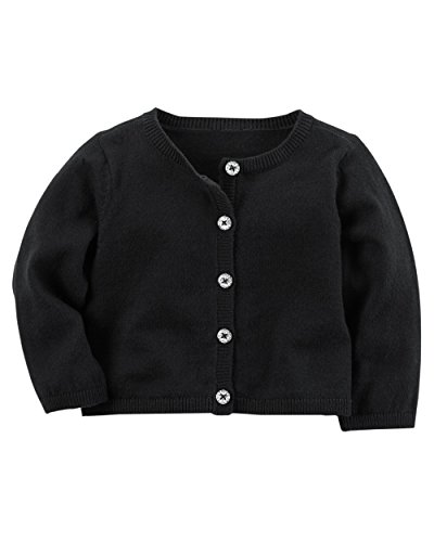Carters Baby Girl Cardigan (6 Months, Black)