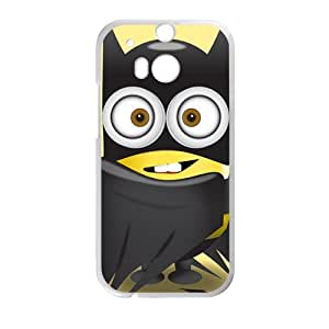 Happy Lovely black cloth Minions Cell Phone Case for HTC One M8