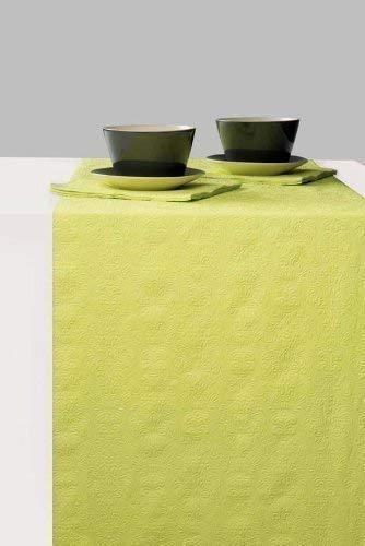 Camino de mesa verde papel Ambiente Elegance 33 cm x 6 m: Amazon ...