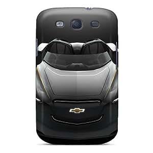 QQcase Galaxy S3 Hybrid Tpu Case Cover Silicon Bumper 2011 Chevrolet Mi Ray Roadster Concept
