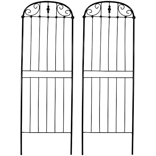 - Sunnydaze 32-Inch Traditional Garden Trellis, Metal Wire for Climbing Plants and Flowers, Set of 2
