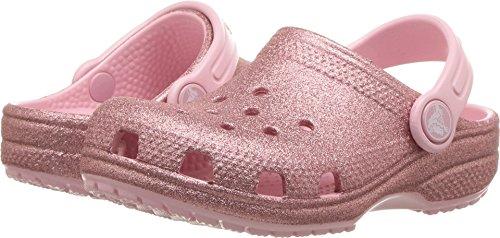 Pictures of crocs Unisex Kids Classic Glitter Clog K Blossom 11 M US Little Kid 1